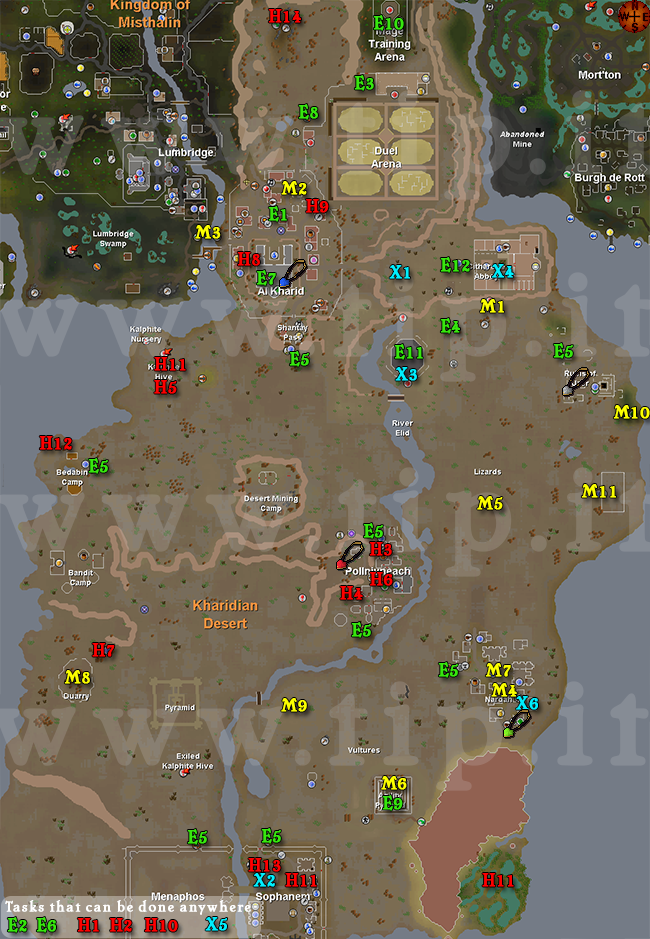 Desert task map pages tip runescape help the original these codes are listed in the task guide along with the requirements for that task you may click on each task icon and cloak for more information gumiabroncs Image collections