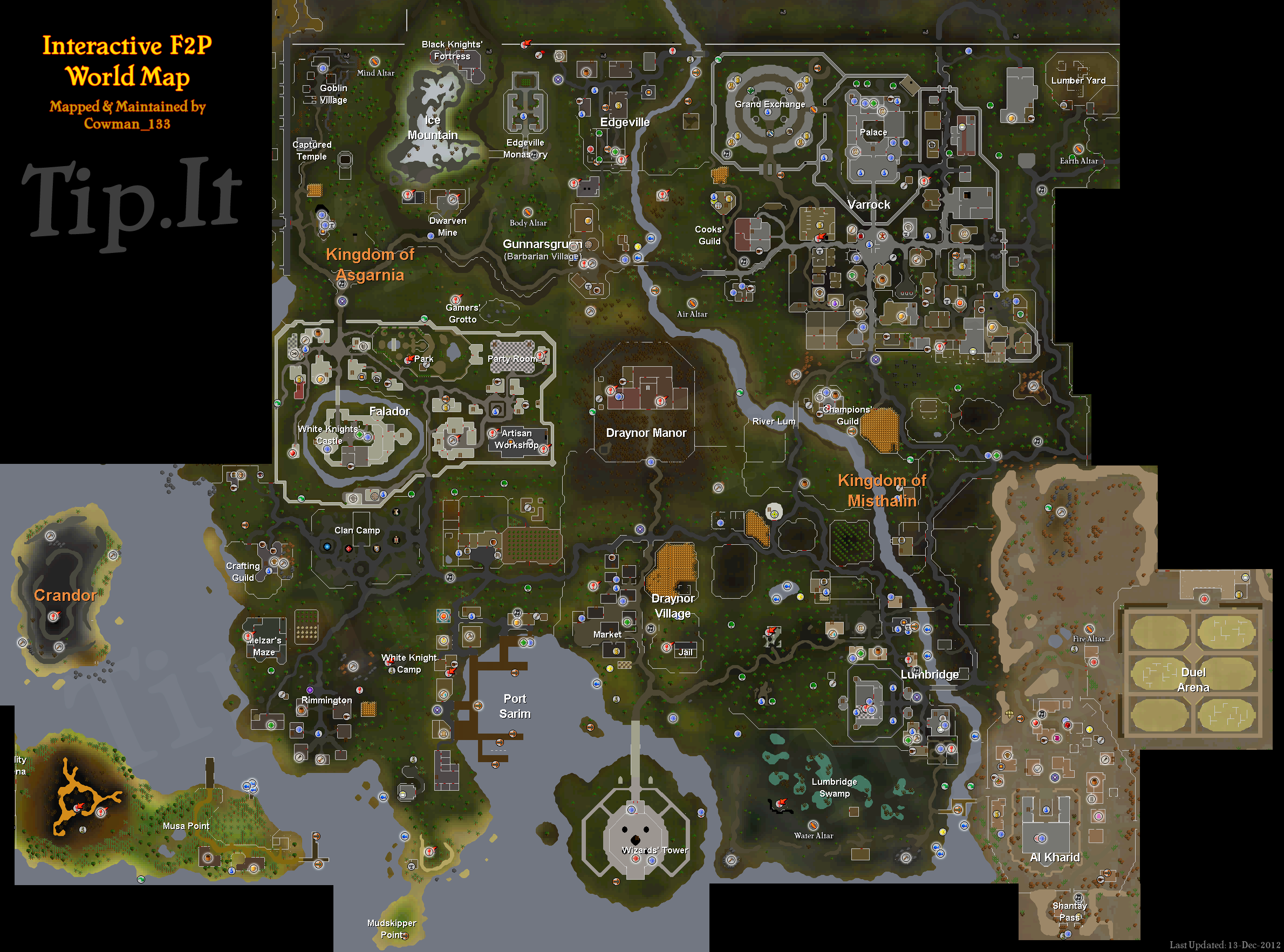 Tip.It RuneScape Help :: F2P World Map :: The Original ...