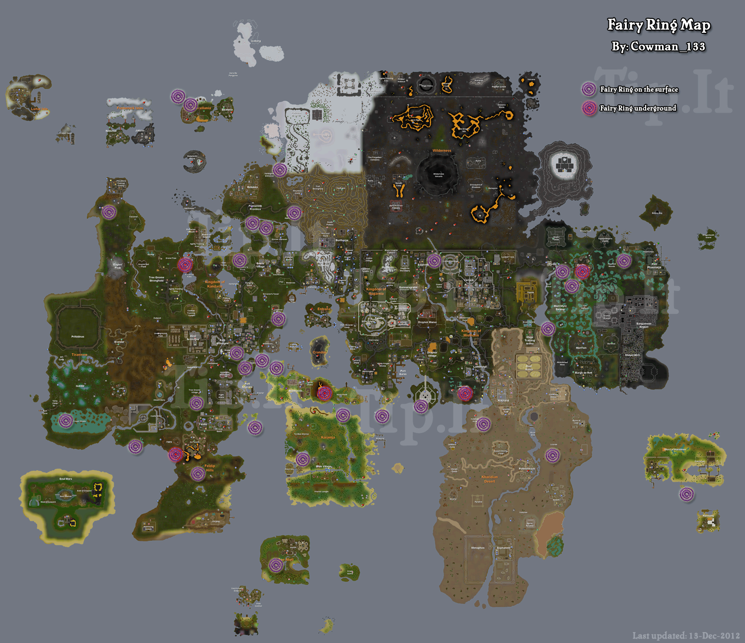 Fairy Ring Map Tip.It RuneScape Help :: Fairy Ring Transportation Map :: The