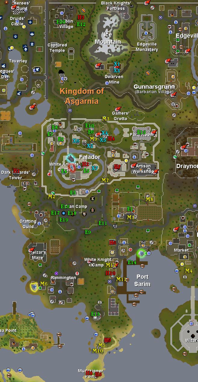 Falador mapa de tarefas