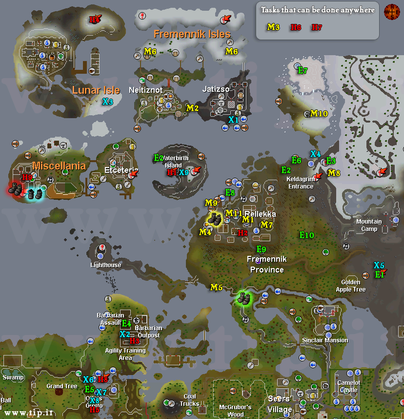 Fremennik Diário Mapa