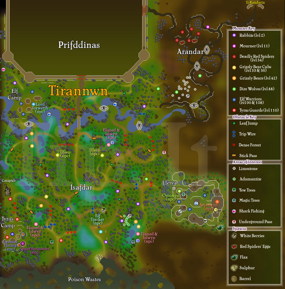 2007 Runescape Map Clues And map of chad