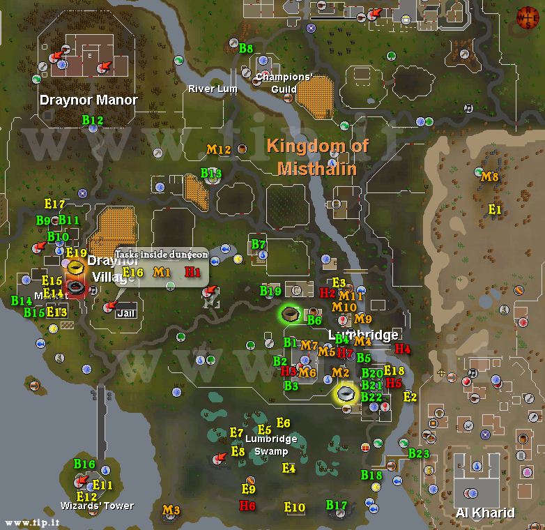 Lumbridge Task Map - Pages :: Tip.It RuneScape Help :: The ...