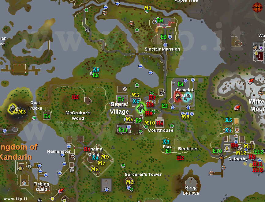 Seers Village Task Map - Pages :: Tip.It RuneScape Help :: The ...