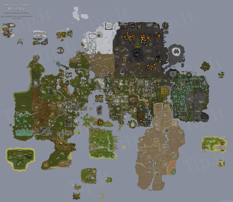Tip It RuneScape Help Full World Map The Original RuneScape Help Site