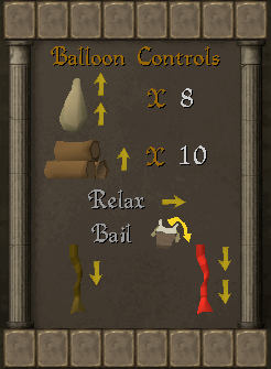 Controles de balão