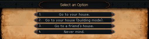 Consguide Introduza opções de Casa