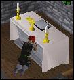 Praying at an altar
